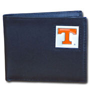 Tennessee Volunteers Logo College Ncaa Leather Bi-fold Wallet Usa Made