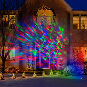 Lightshow Kaleidoscope Multi-colored Christmas Lights Holiday Party Led Outdoor