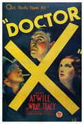 Doctor X Movie Poster 27x40 Lionel Atwill Fay Wray Lee Tracy Preston Foster