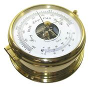 Victory Ba586 6 Brass Barometer / Thermometer 7-1/8 X 2-3/4 Case 135-234