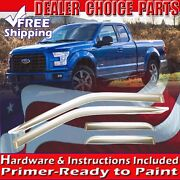 2015 16 17 18 2019 Ford F150 Extended Cab Chrome Door Window Vent Visors Guards