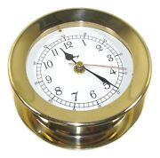 Victory Rm616 5 Polished Cast Brass Shipand039s Clock 6-5/16 X 2-3/8 Case 135-581