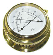 Victory Ba620 4 Brass Shipand039s Thermometer / Hygrometer Yacht 6x2-3/8 135-927