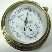 Victory Ba612 Brass 4 Barometer Thermometer Yacht Dual Scale 135-958