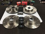 Ford Focus Mk1 Rs Brake Discs Cross Drilled Grooved And Mintex Brake Pads