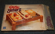 Vtg Party Server Ii Corning 2 Pyrex Fireside Serving Dishes W Wood Cradle Niob