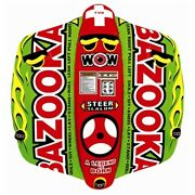 Wow Bazooka 12-1040 Inflatable And Towable Water Sport 1-2 Riders 60 X 54 Lc