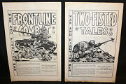 Set Of 2 Ec Porfolios - Jack Davis Two-fisted Tales And Frontline Combat 1980/1983