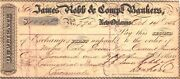 1856 1059.94 Signed James Robb And Comp Bankers New Orleans La. Early Check Used