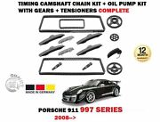 For Porsche 911 997 2008- Timing Cam Chain Kit + Oil Pump With Gears Complete