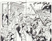 All-new X-men 5 Pgs.18and19 - Team Action Vs. Blob Dps - 2016 Art By Mark Bagley