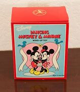 Disney Dancing Mickey And Minnie Mouse Wind-up Toy Schylling Mib