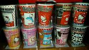 Hello Kitty 40th Anniversary Shot Glass Collection Lot Of 10 Depicts 40yrs New