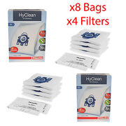 Genuine Miele Gn Hyclean 3d Vacuum Cleaner Hoover Dust Bags X8 And 4 X Filters