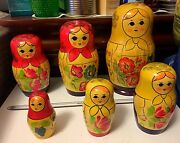 Vintage Russian Nesting Dolls 8 Inch 6 Piece Set Signed And Dated 1980-beriozka