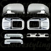 15-16 Ford F150 Fog Light 2 Mirrors 2 Door Handles 2 Plates/bowls Chrome Cover