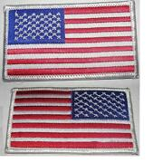 Usa American Flag Patches 3.5x 2andrdquous Patch White Trimsew/iron On1-1000 /pack