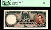 Fiji P37i 5 Shillings Pcgs 66 Andldquoking George Vithandrdquo 1949 Finest Known By All Coandrsquos