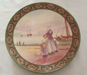 Nippon Hand-painted Dutch Lady Plate