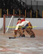 Gump Worsley Plays The Puck 8x10 Photo Montreal Canadiens Hof Goalie Great Wow