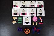 Lot Of 21 New Baby Hair Clips And Bows Pea Soup Accessories