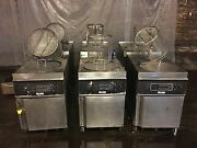 Giles Electric Deep Fryer With Filter System And Auto Lift Gef-720- 208v 3 Phase