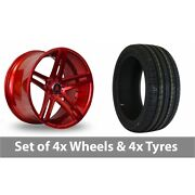 4 X 20 Axe Ex20 Candy Red Alloy Wheel Rims And Tyres - 225/30/20
