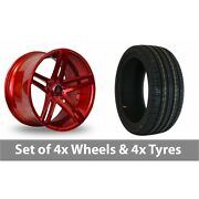 4 X 20 Axe Ex20 Candy Red Alloy Wheel Rims And Tyres - 235/30/20