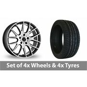 4 X 20 Wolfrace Munich Black Polished Alloy Wheel Rims And Tyres - 275/35/20