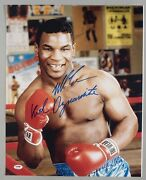 Mike Tyson Signed Kid Dynamite 16x20 Photo Psa/dna Coa Boxing Picture Autograph