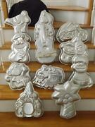 11 Wilton Molds Cake Palm Tree Wizard Guitar Harley Mickey Cookie Monster