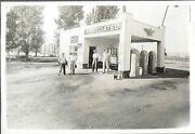 Cabinet Photo Of An Associated Gas Station, Waco Tx W/ Dr Pepper, Coke, Rc Signs