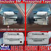 2009-2014 F150 Chrome Door Handle W/o Kp, Psk 2dr Towing Mirror Covers Trims