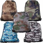 Camo Drawstring Tote Backpack   Wholesale Cinch Bags For Huntinghikingparties