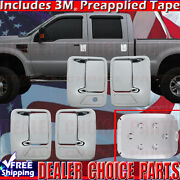 2011-2016 Ford F250 F350 Superduty Chrome Door Handle Covers 4dr 1kh+gas Cover