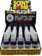 Scent Bomb 1 Oz 100 Concentrated Air Freshener Display 20 Bottles 5 Scents