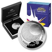 Australia 2015 Netball World Cup Sydney 1oz 5 Pure Silver Proof Domed Coin Ram
