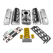 Chevy Sbc 350 Hyd Ft 220cc Straight Plug Cylinder Head Top End Engine Combo Kit