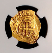 Colombia 1699 Dated 2 Escudos 1715 Fleet Ngc 63 Gold Cob Doubloon Treasure
