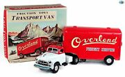 Awesome 1950 Yamaichi Japan 'overland Freight Service' Friction Toy Van W/box