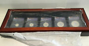 2013 Canadian Silver Maple Leaf 5pc Set Anacs 69 First Release 25th Anniversary
