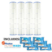 4 Pack Pleatco Pa137-pak4 Pool Cartridges Hayward W/ 6x Filter Washes