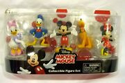 Mickey Mouse Clubhouse Figurine Playset-mickey,minnie,donald,pluto,daisy-new