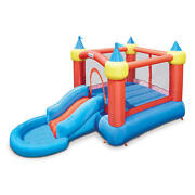 Little Tikes Inflatable Jump Bounce Castle Ball Pit Slide Blower Pump Included