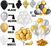 Wholesale White Black Gold Silver 10 Plain Latex Balloons For Mothers Day Easte