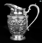 Magnificent 1926 Whiting Mfg. Talisman Rose Hand Chased Sterling Silver Decanter