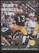 September 1 1973 Nfl Program Pittsburgh Steelers At Green Bay Packers Ex+