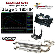 Canam X3 Pwrtune Ecu Reflash And Trinity Exhaust Stage 3 Package 195hp Tune