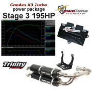 Canam X3 Pwrtune Ecu Reflash And Trinity Black Exhaust Stage 3 Package 195hp Tune