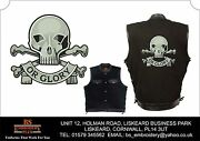 17th/21st Lancers Embroidered Black Denim And Leather Sleeveless Vest